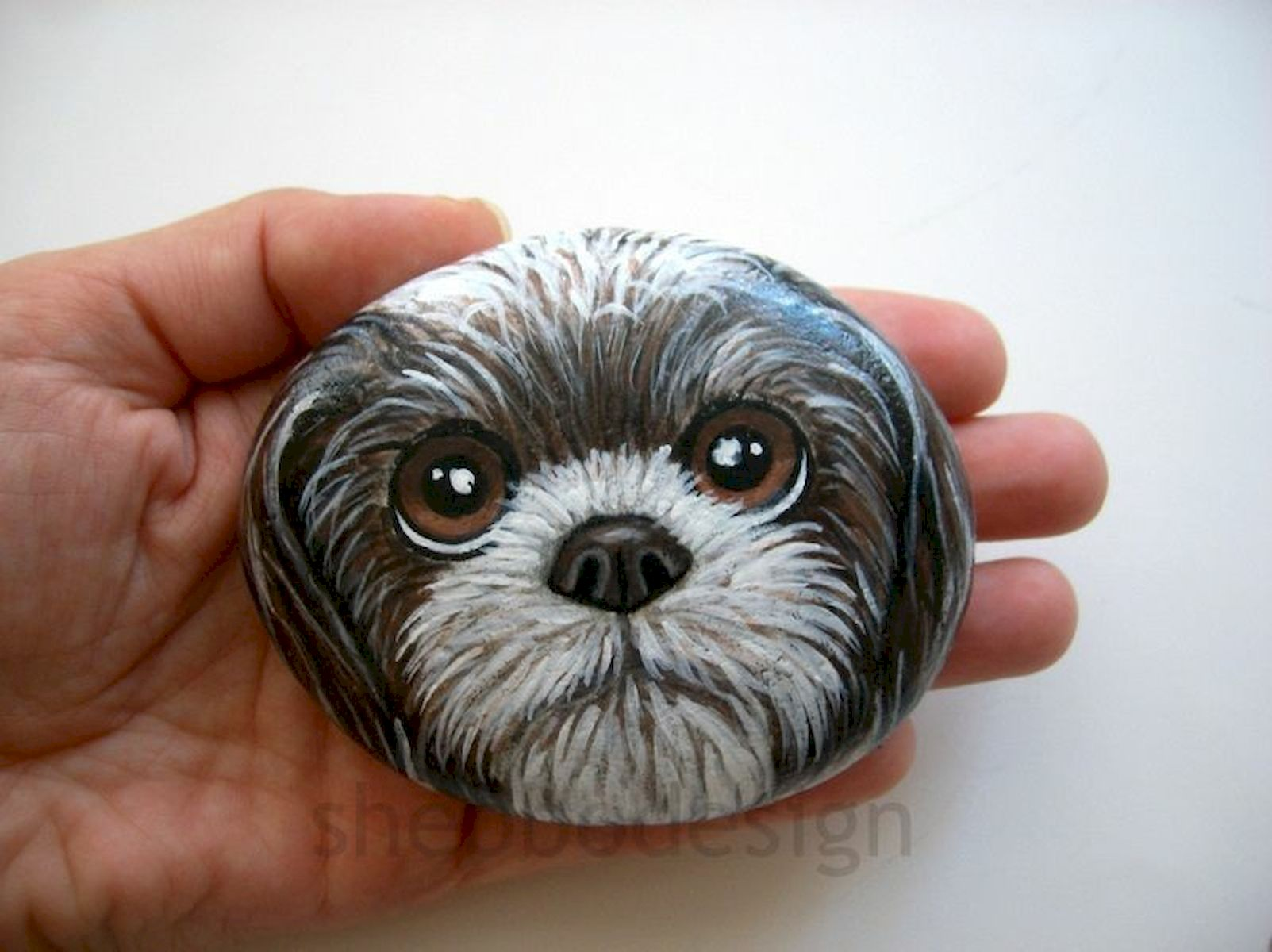 40 Favorite DIY Painted Rocks Animals Dogs for Summer Ideas (20)
