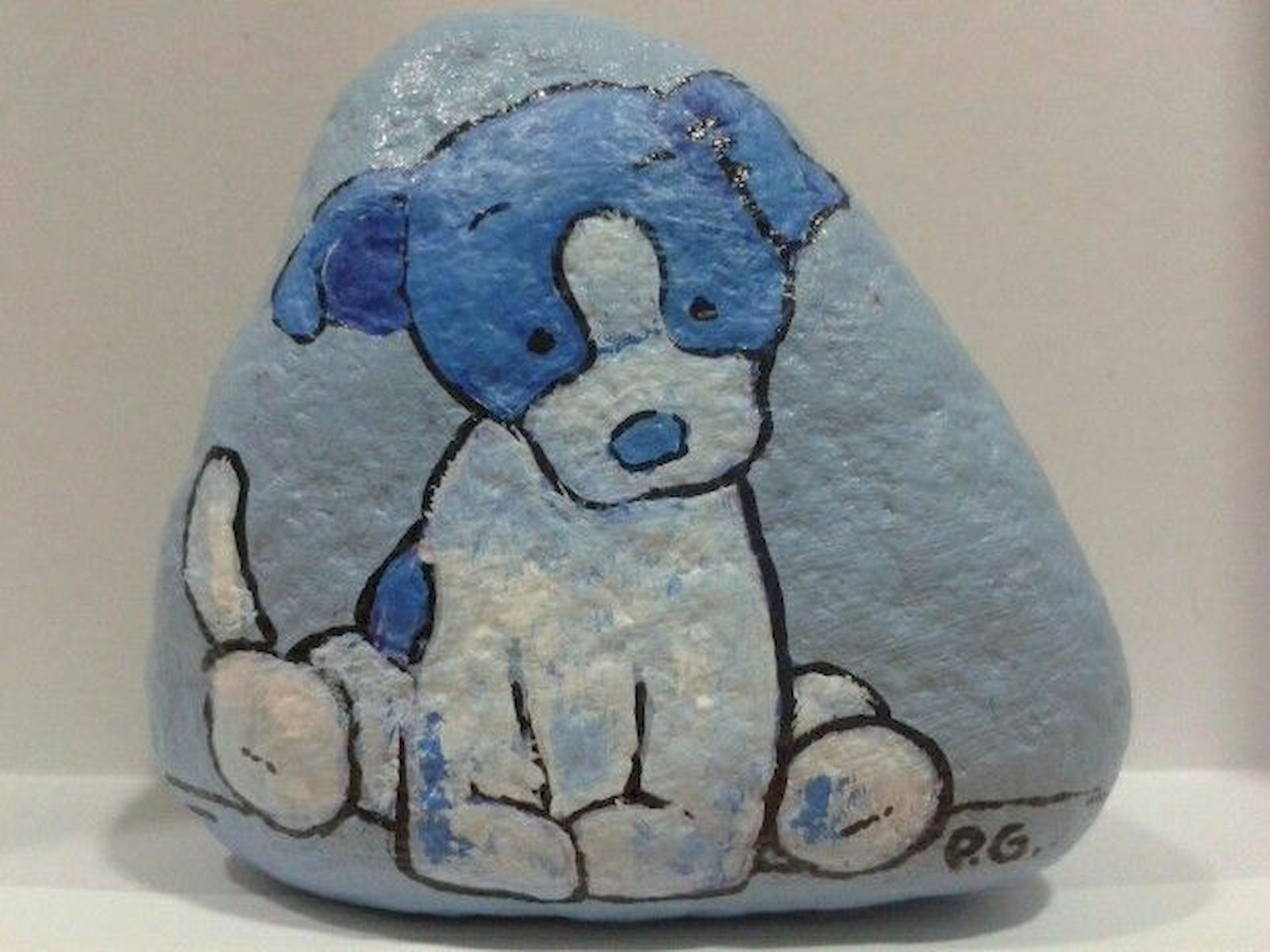 40 Favorite DIY Painted Rocks Animals Dogs for Summer Ideas (28)