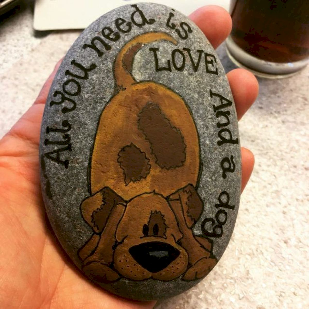 40 Favorite DIY Painted Rocks Animals Dogs for Summer Ideas (29)