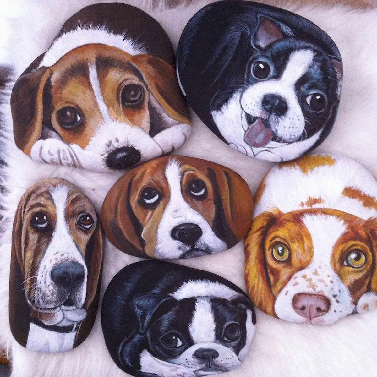 40 Favorite DIY Painted Rocks Animals Dogs for Summer Ideas (30)
