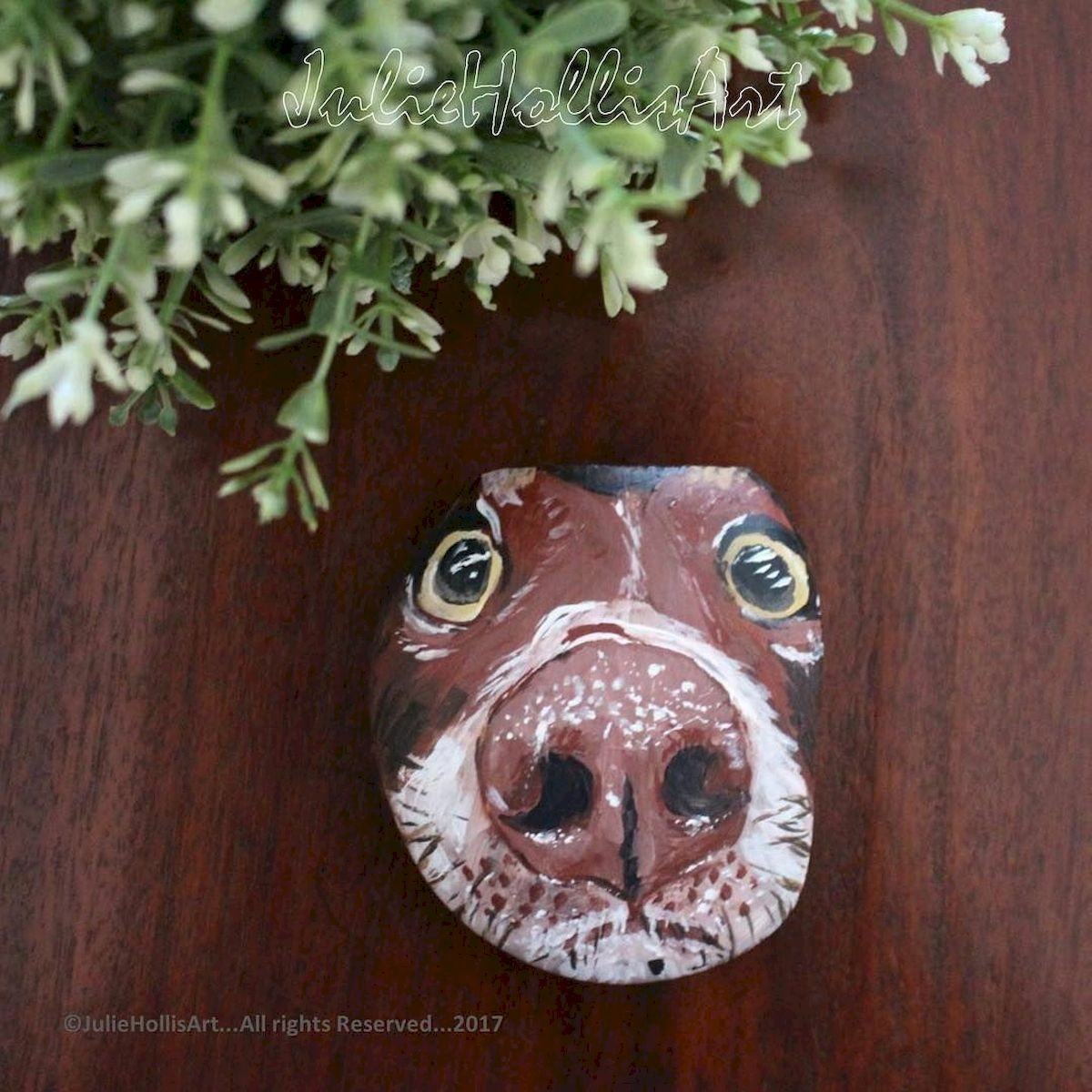 40 Favorite DIY Painted Rocks Animals Dogs for Summer Ideas (36)