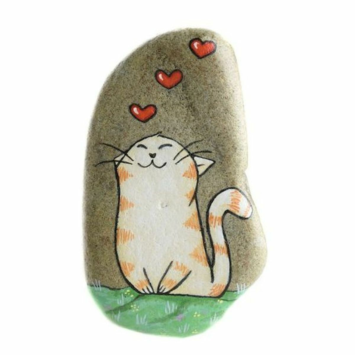 50 Best DIY Painted Rocks Animals Cats for Summer Ideas (13)