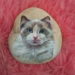 50 Best DIY Painted Rocks Animals Cats For Summer Ideas (14)