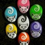 50 Best DIY Painted Rocks Animals Cats For Summer Ideas (15)