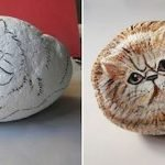 50 Best DIY Painted Rocks Animals Cats For Summer Ideas (16)
