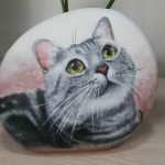 50 Best DIY Painted Rocks Animals Cats For Summer Ideas (17)