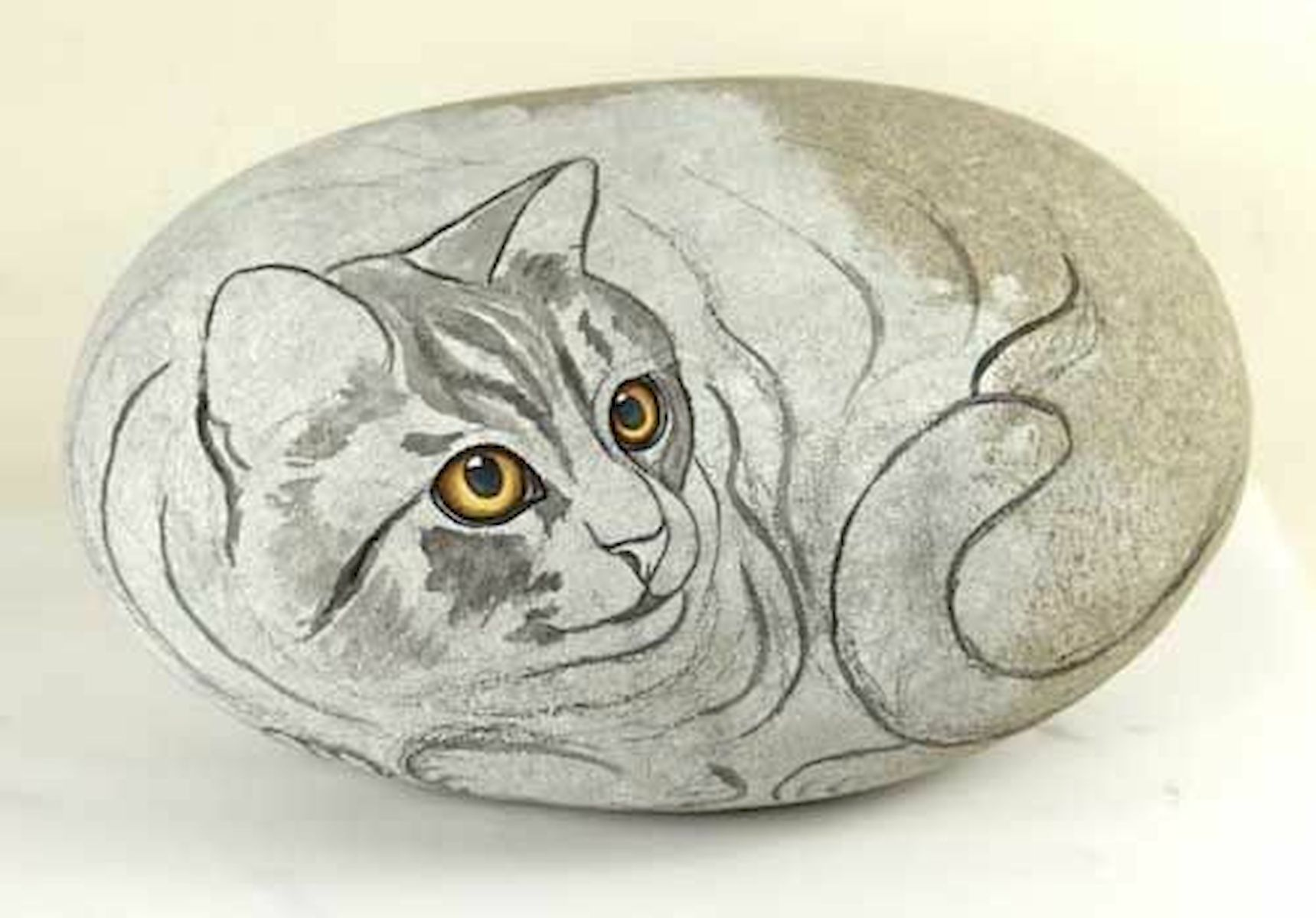 50 Best DIY Painted Rocks Animals Cats for Summer Ideas (25)