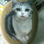 50 Best DIY Painted Rocks Animals Cats For Summer Ideas (29)