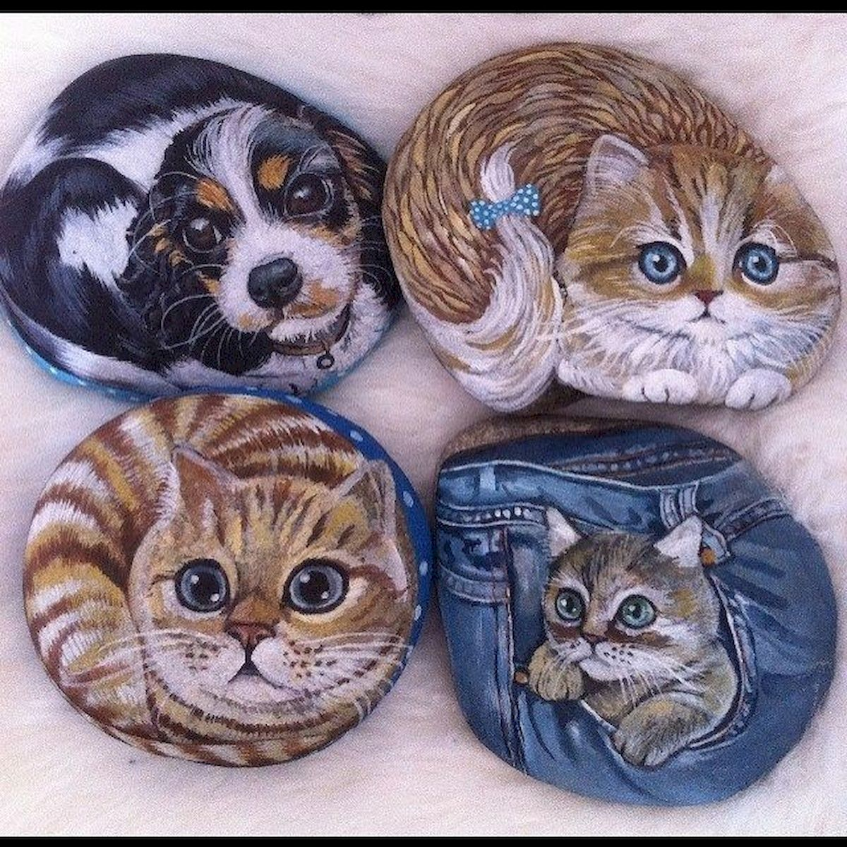 50 Best DIY Painted Rocks Animals Cats for Summer Ideas (30)