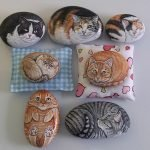 50 Best DIY Painted Rocks Animals Cats For Summer Ideas (31)