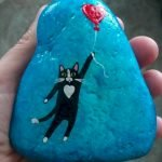 50 Best DIY Painted Rocks Animals Cats For Summer Ideas (4)