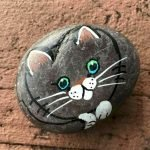 50 Best DIY Painted Rocks Animals Cats For Summer Ideas (48)