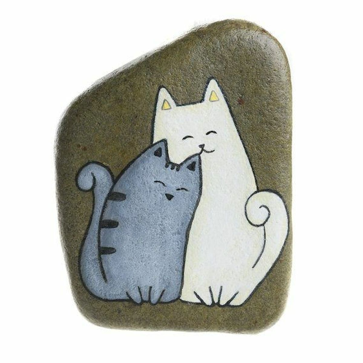 50 Best DIY Painted Rocks Animals Cats for Summer Ideas (49)
