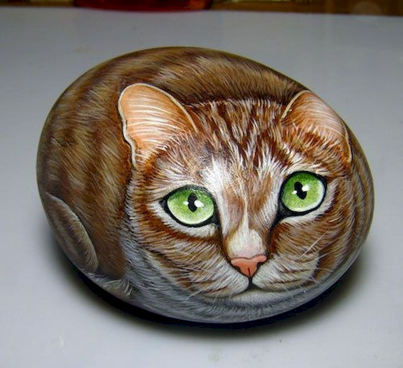 50 Best DIY Painted Rocks Animals Cats for Summer Ideas (6)