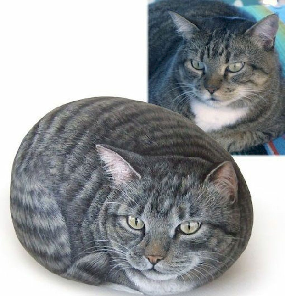 50 Best DIY Painted Rocks Animals Cats for Summer Ideas (9)