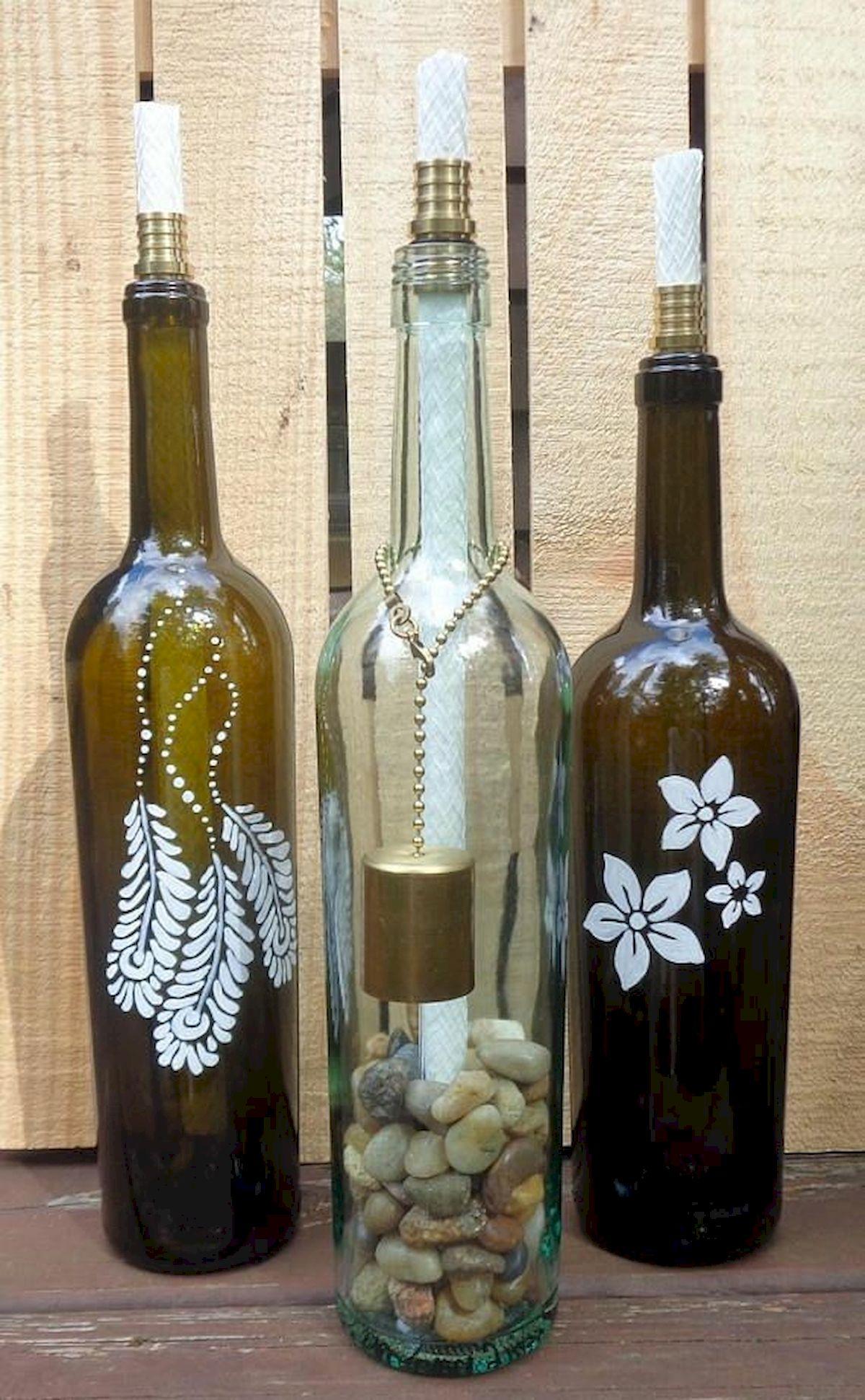 76 Best DIY Wine Bottle Craft Ideas (10)