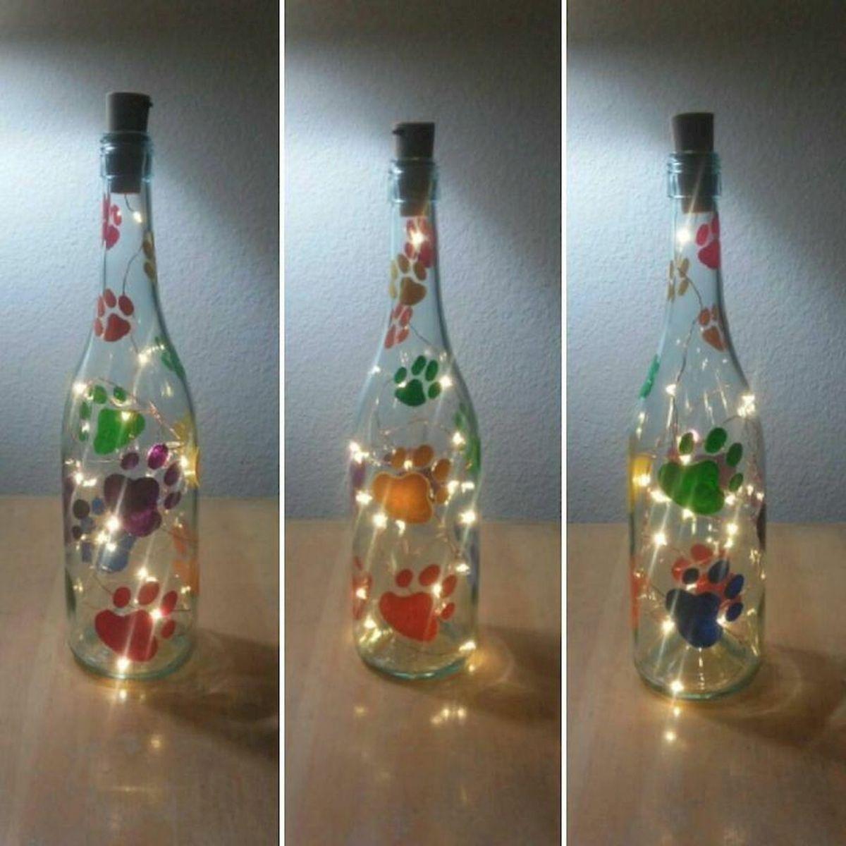 76 Best DIY Wine Bottle Craft Ideas (12)