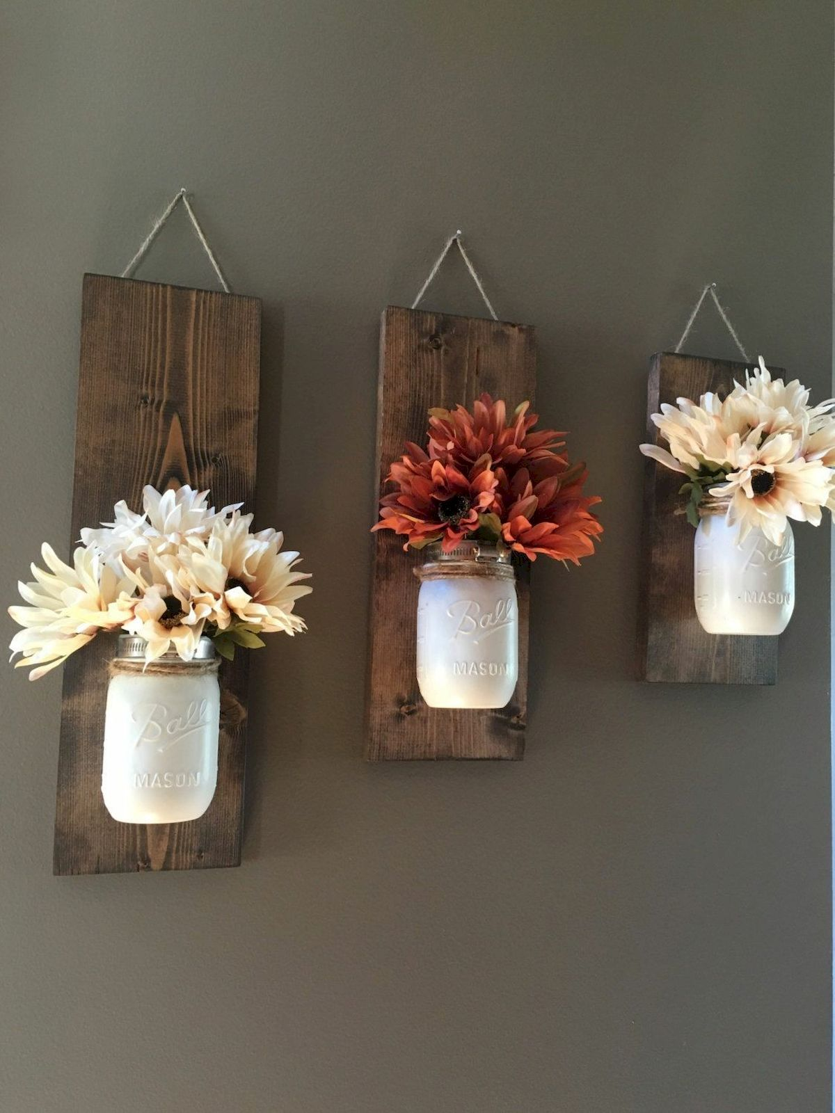 33 Awesome DIY Crafts Ideas for Interior Home Wall (25)