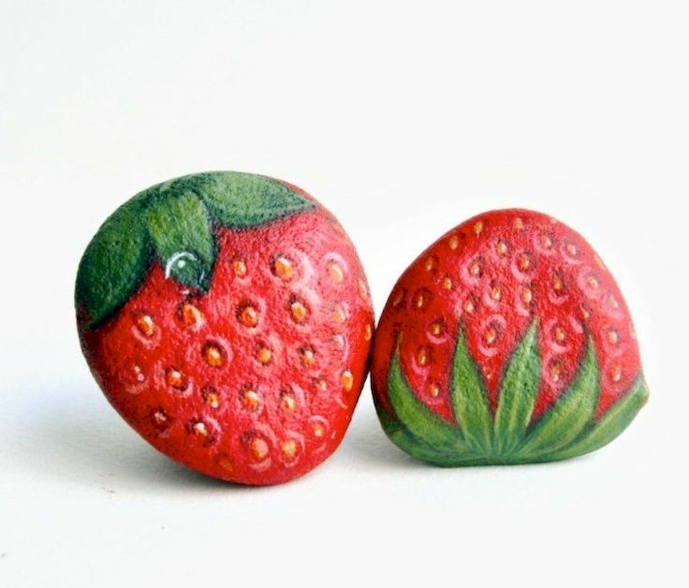 40 Awesome DIY Painted Rocks Fruits Ideas (29)