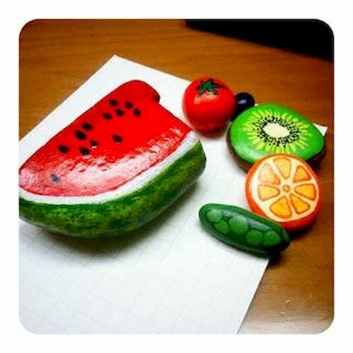 40 Awesome DIY Painted Rocks Fruits Ideas (30)
