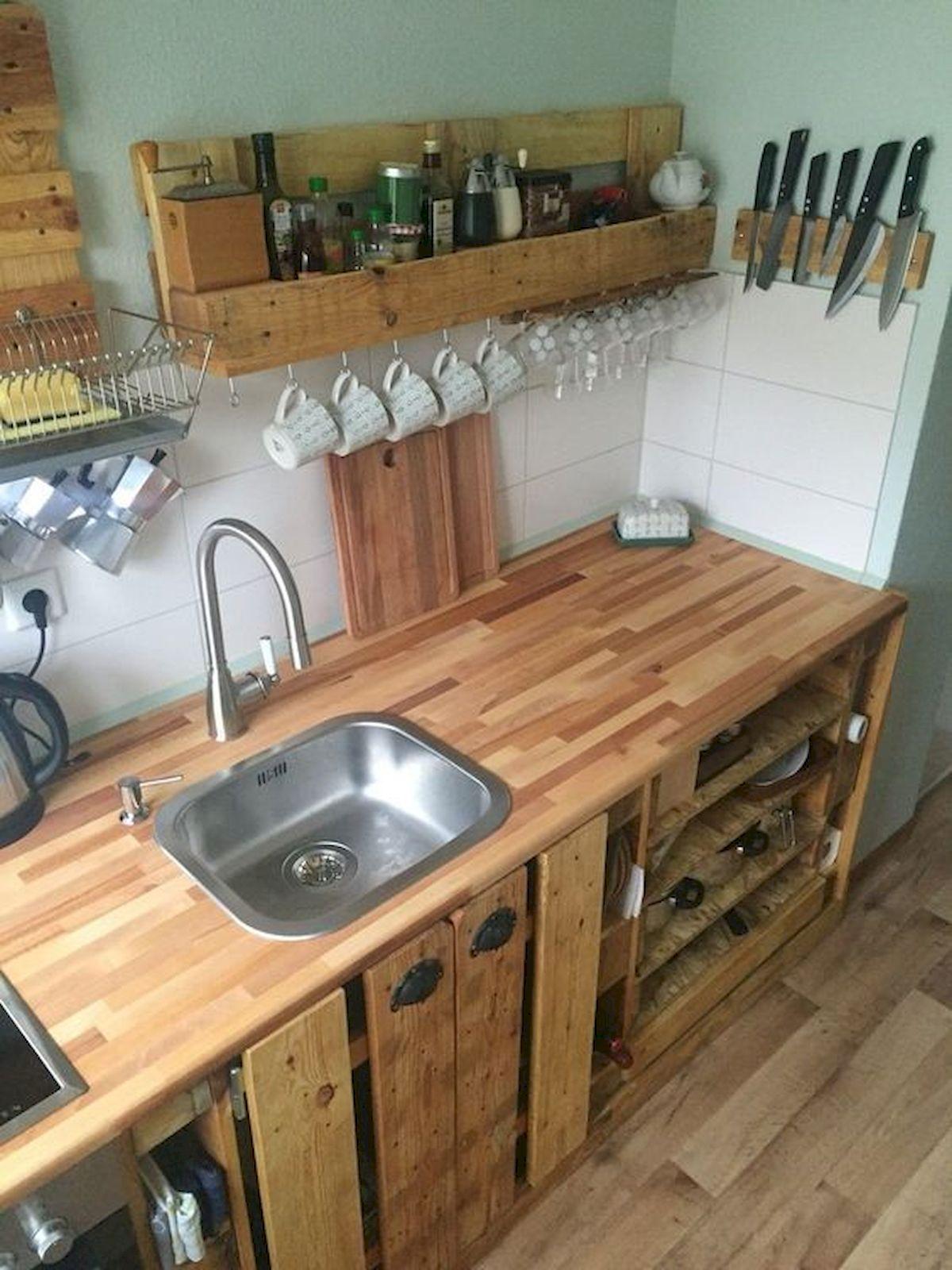 50 Amazing DIY Pallet Kitchen Cabinets Design Ideas (19 ...