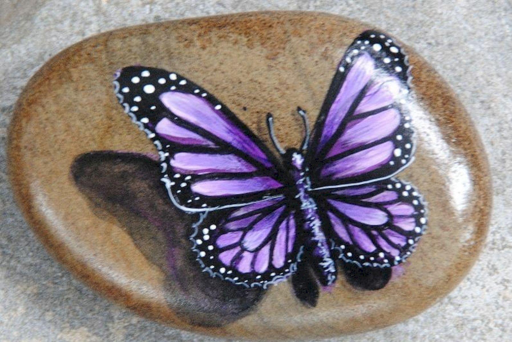 55 Cute DIY Painted Rocks Animals Butterfly Ideas (10)