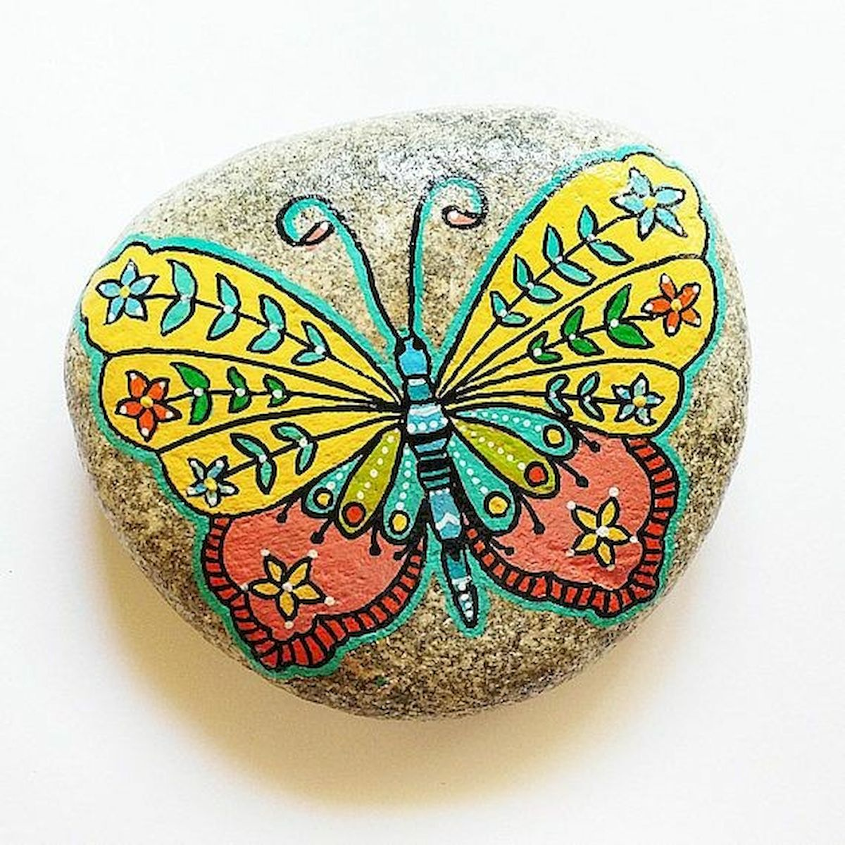 55 Cute DIY Painted Rocks Animals Butterfly Ideas (19)