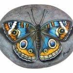 55 Cute DIY Painted Rocks Animals Butterfly Ideas (24)
