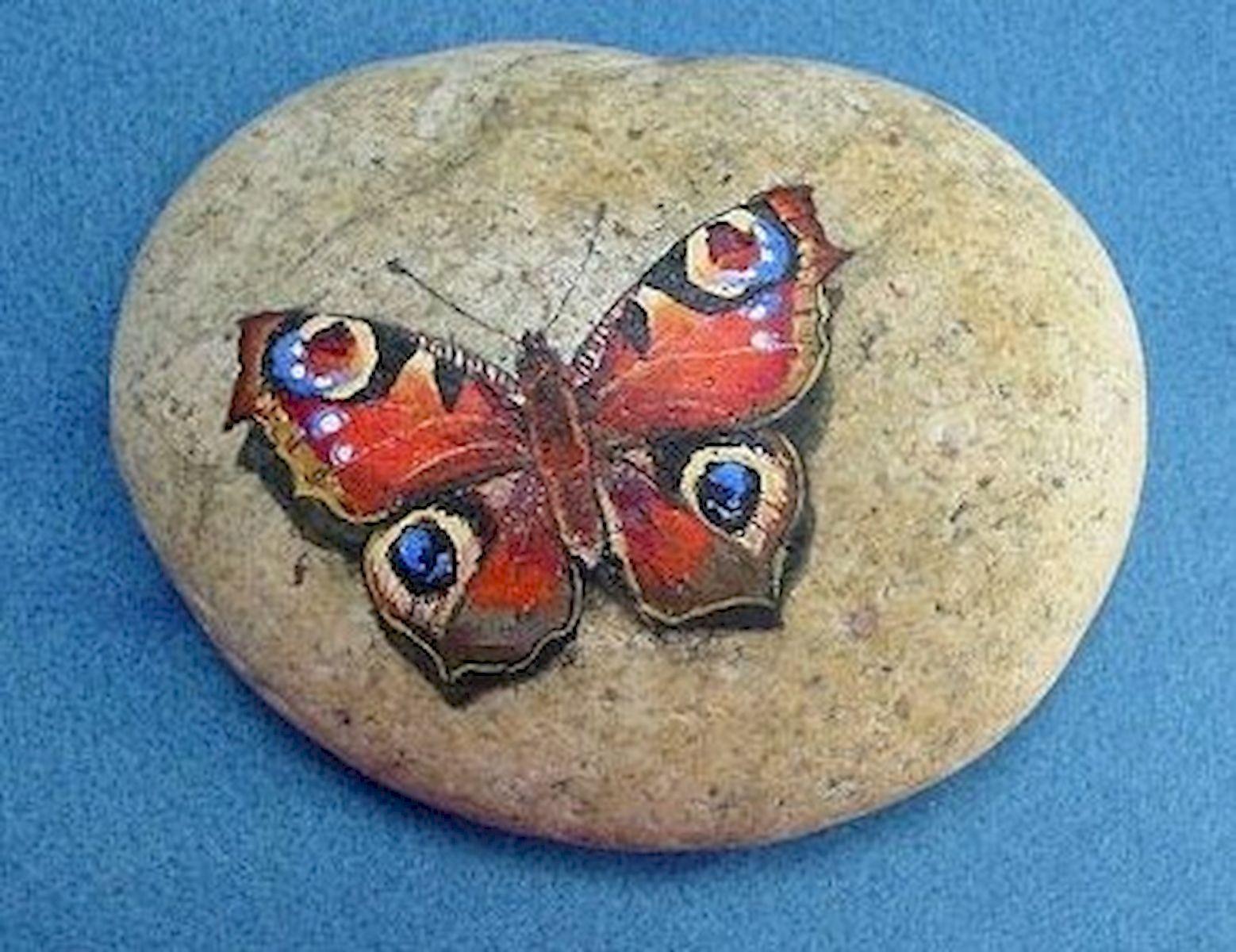 55 Cute DIY Painted Rocks Animals Butterfly Ideas (25)