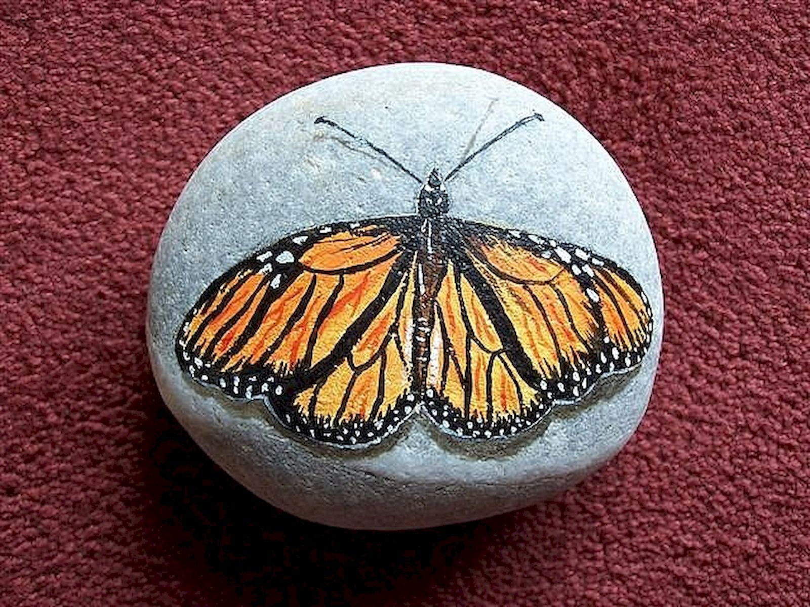55 Cute DIY Painted Rocks Animals Butterfly Ideas (3)