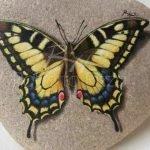 55 Cute DIY Painted Rocks Animals Butterfly Ideas (33)