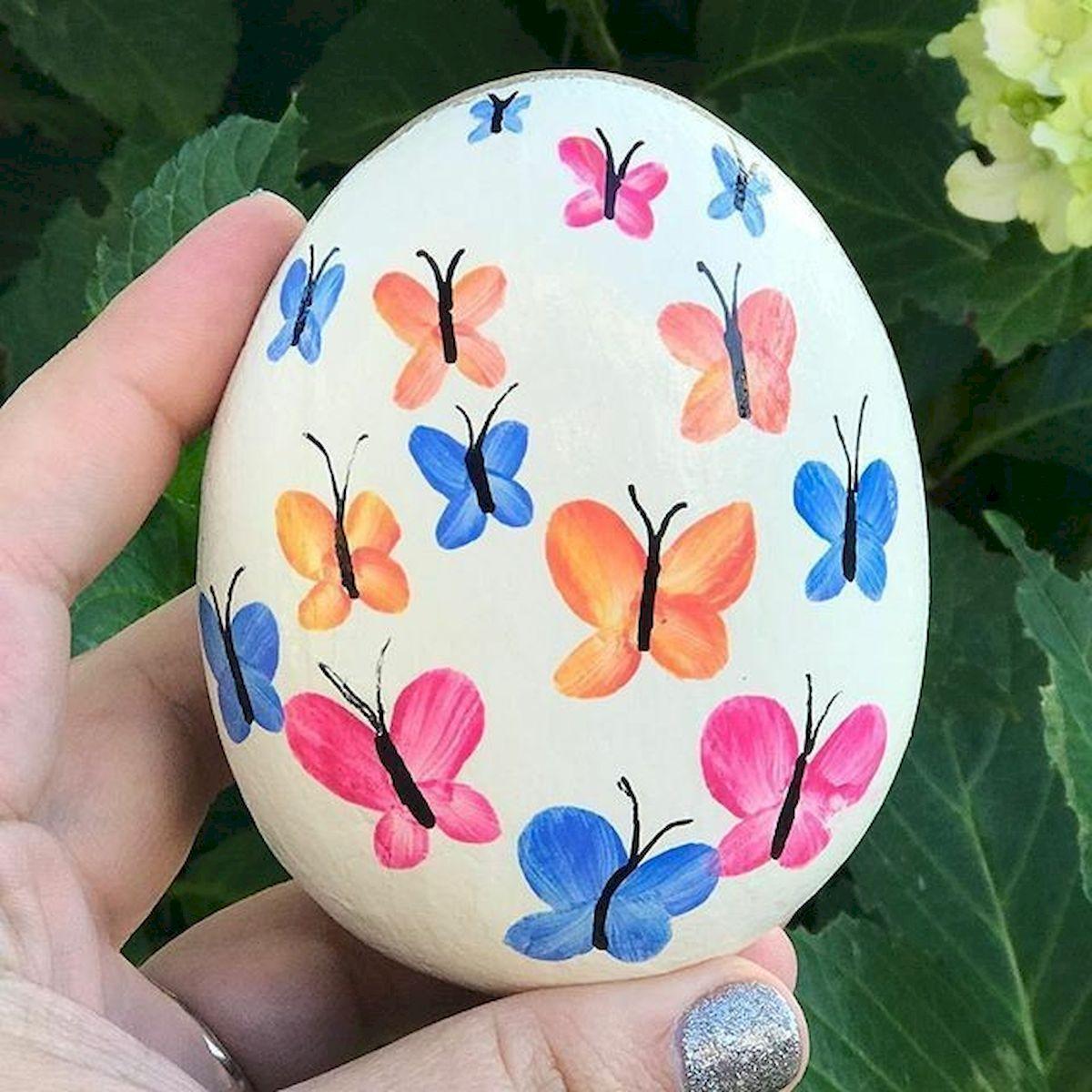 55 Cute DIY Painted Rocks Animals Butterfly Ideas (39)