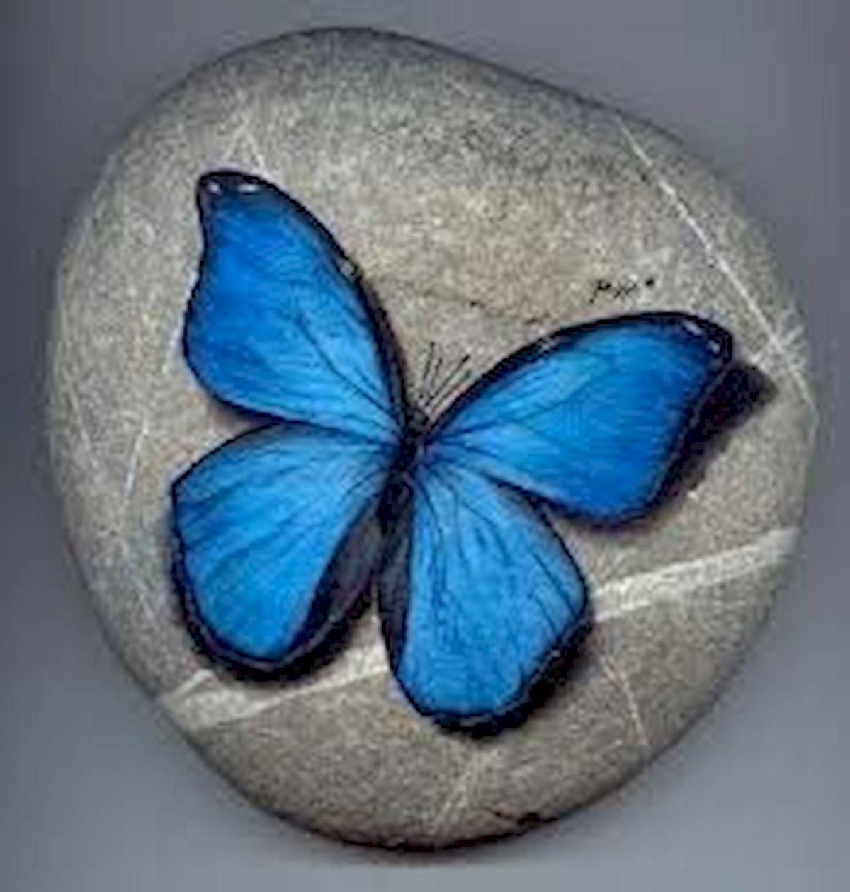 55 Cute DIY Painted Rocks Animals Butterfly Ideas (54)