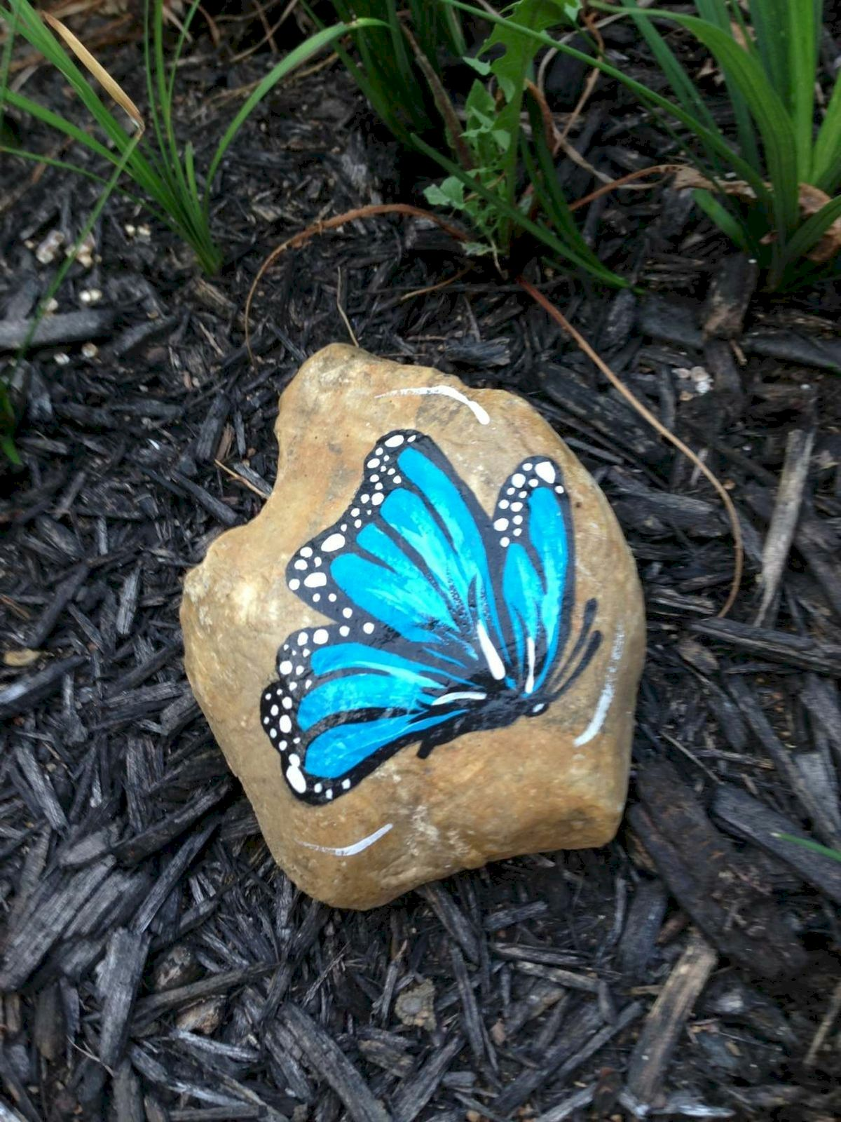 55 Cute DIY Painted Rocks Animals Butterfly Ideas (8)