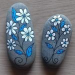 60+ Beautiful DIY Painted Rocks Flowers Ideas (14)