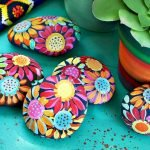 60+ Beautiful DIY Painted Rocks Flowers Ideas (20)