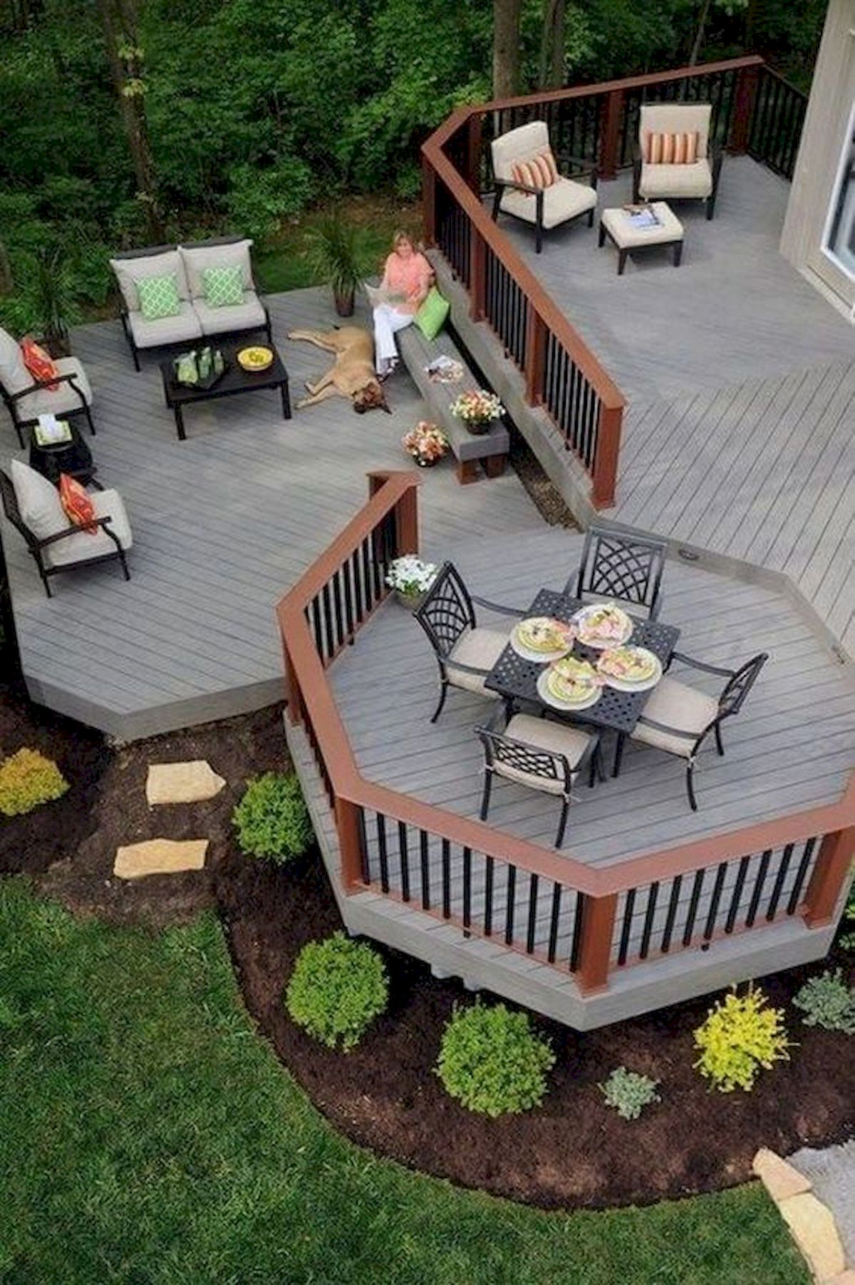 50 Best DIY Backyard Patio and Decking Design Ideas (39)