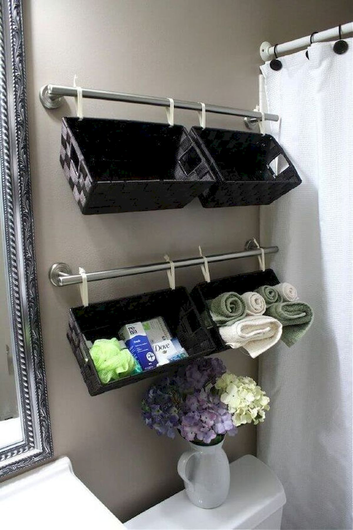 50 Best DIY Storage Design Ideas to Maximize Your Small Bathroom Space (15)