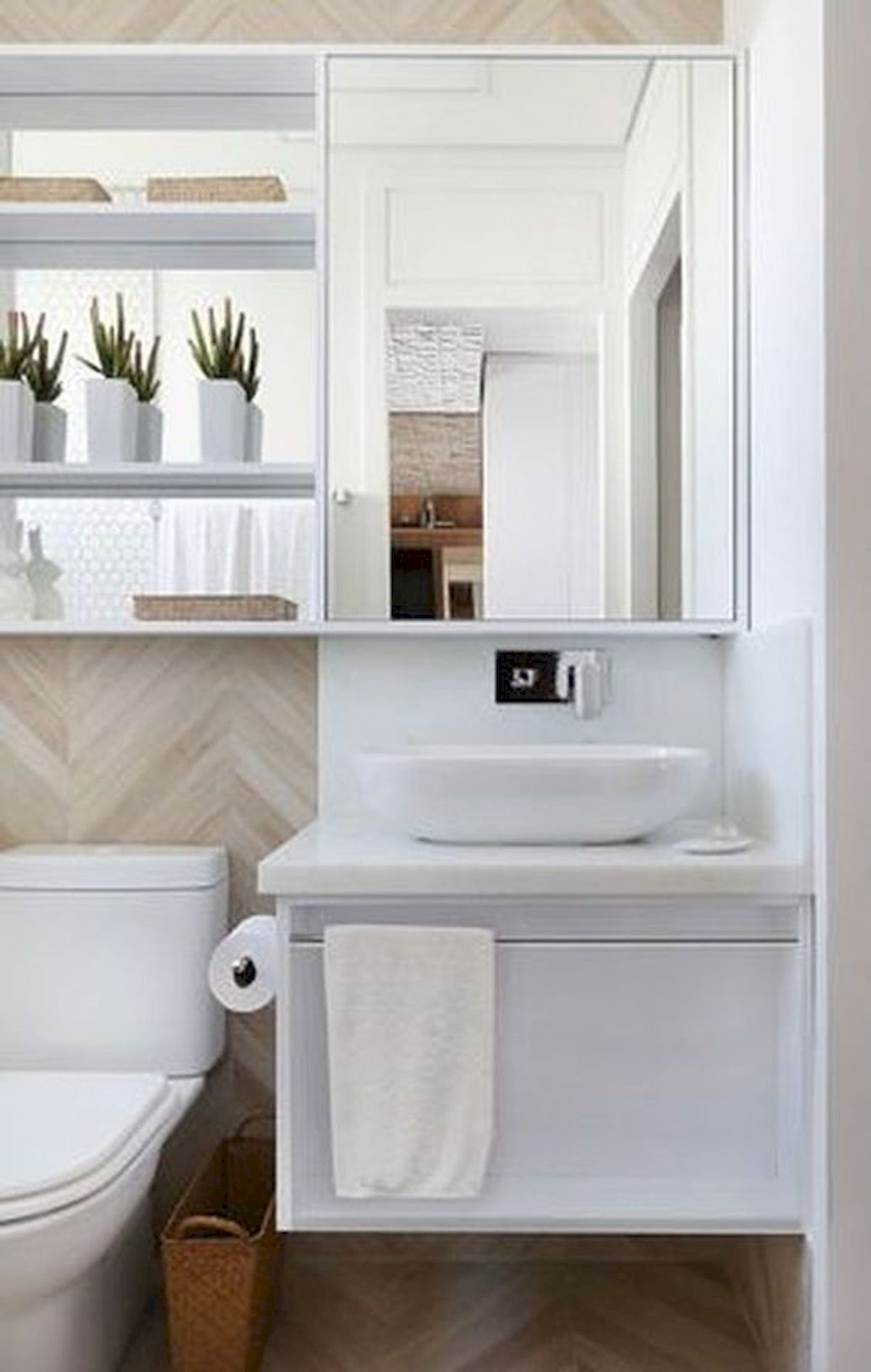 50 Best DIY Storage Design Ideas to Maximize Your Small Bathroom Space (46)