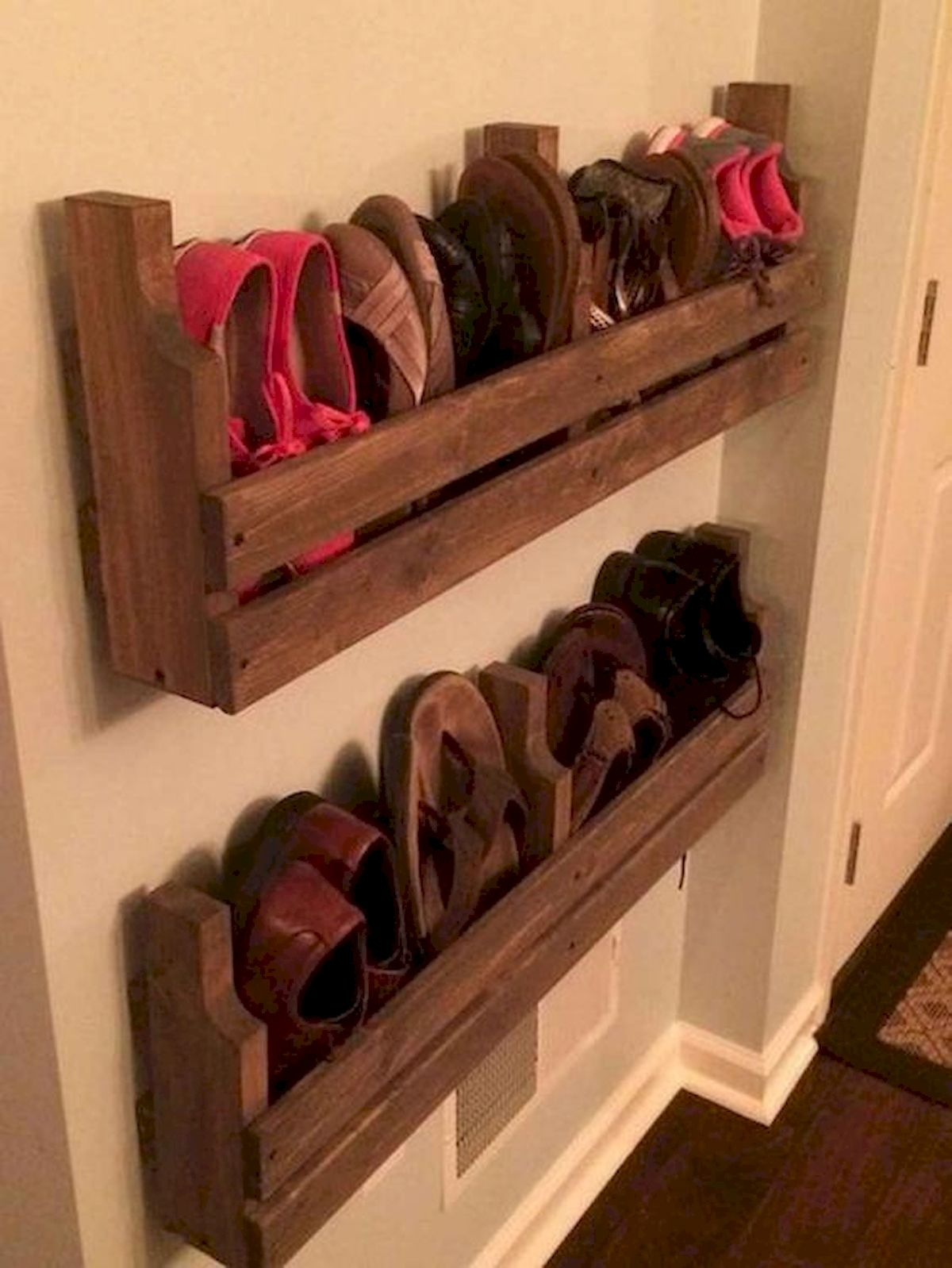 50 Fantastic DIY Shoes Rack Design Ideas (12)