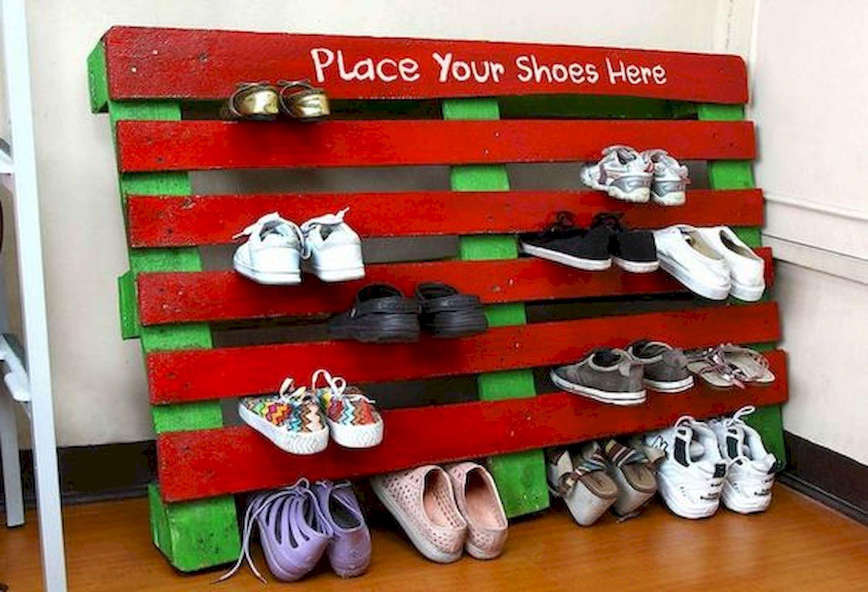 50 Fantastic DIY Shoes Rack Design Ideas (16)