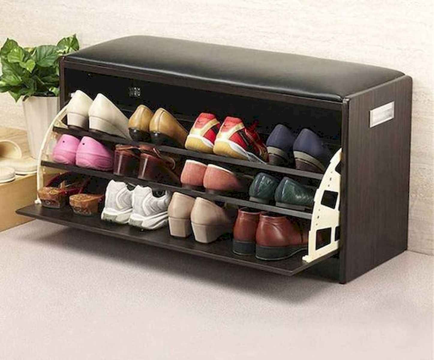 50 Fantastic DIY Shoes Rack Design Ideas (20)