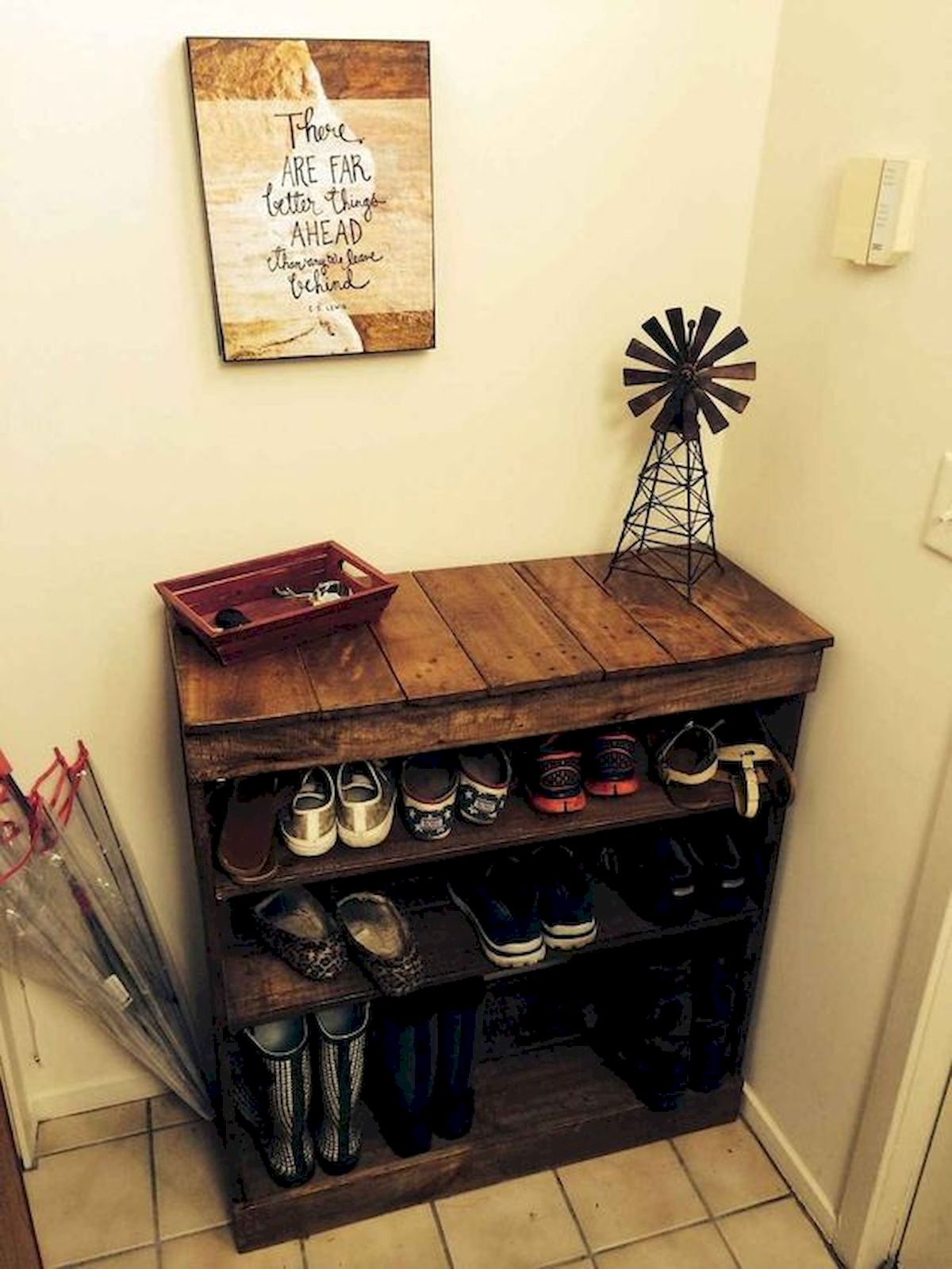 50 Fantastic DIY Shoes Rack Design Ideas (30)