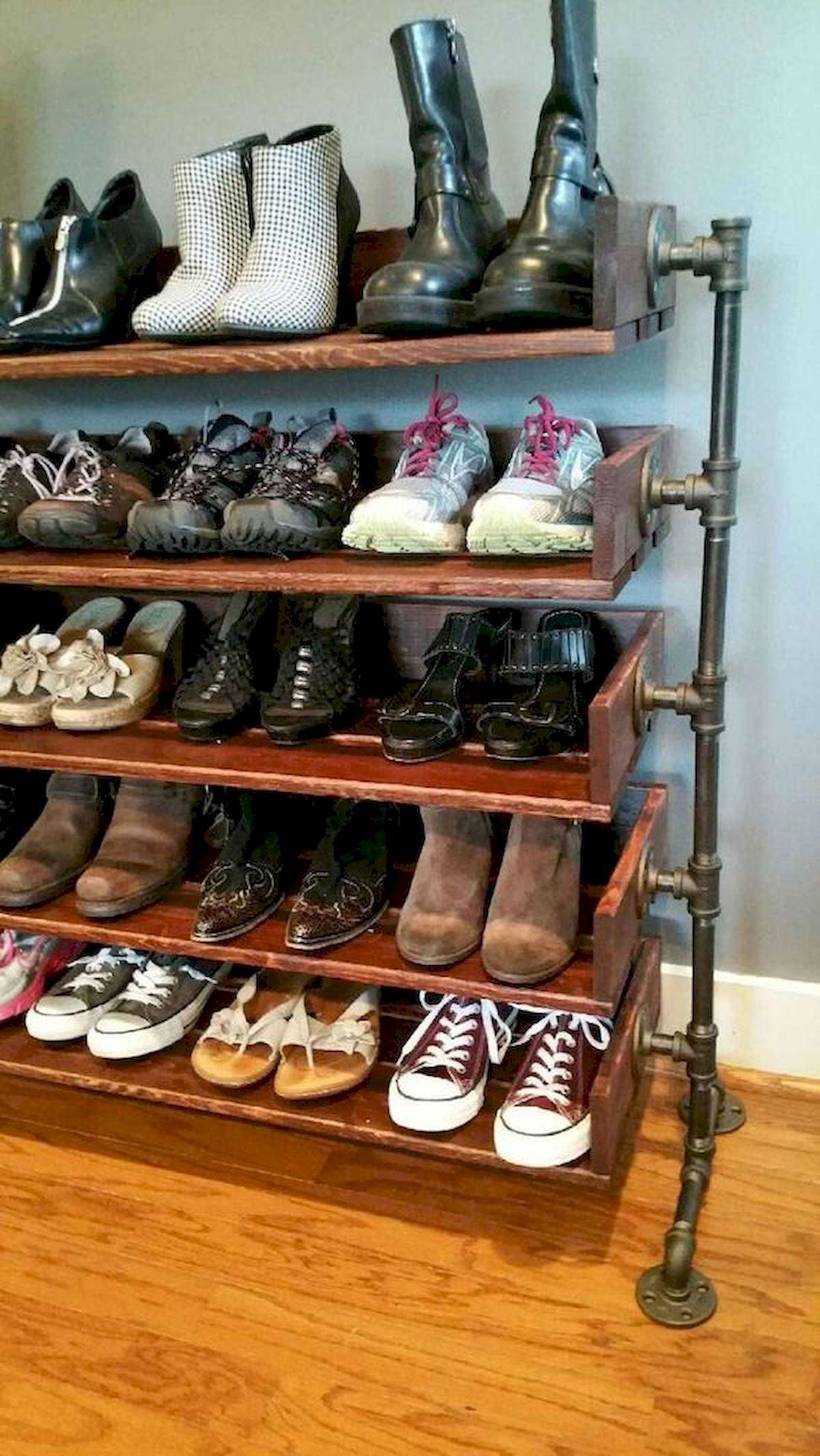 50 Fantastic DIY Shoes Rack Design Ideas (47)
