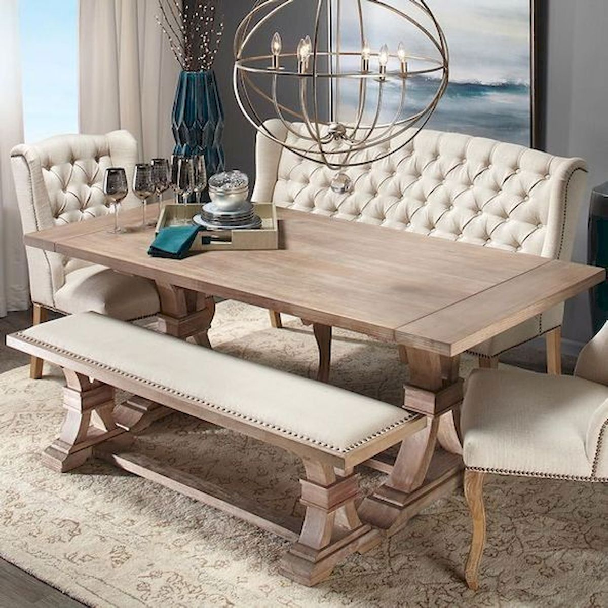 50 Nice DIY Furniture Projects for Dining Rooms Tables Design Ideas (41)