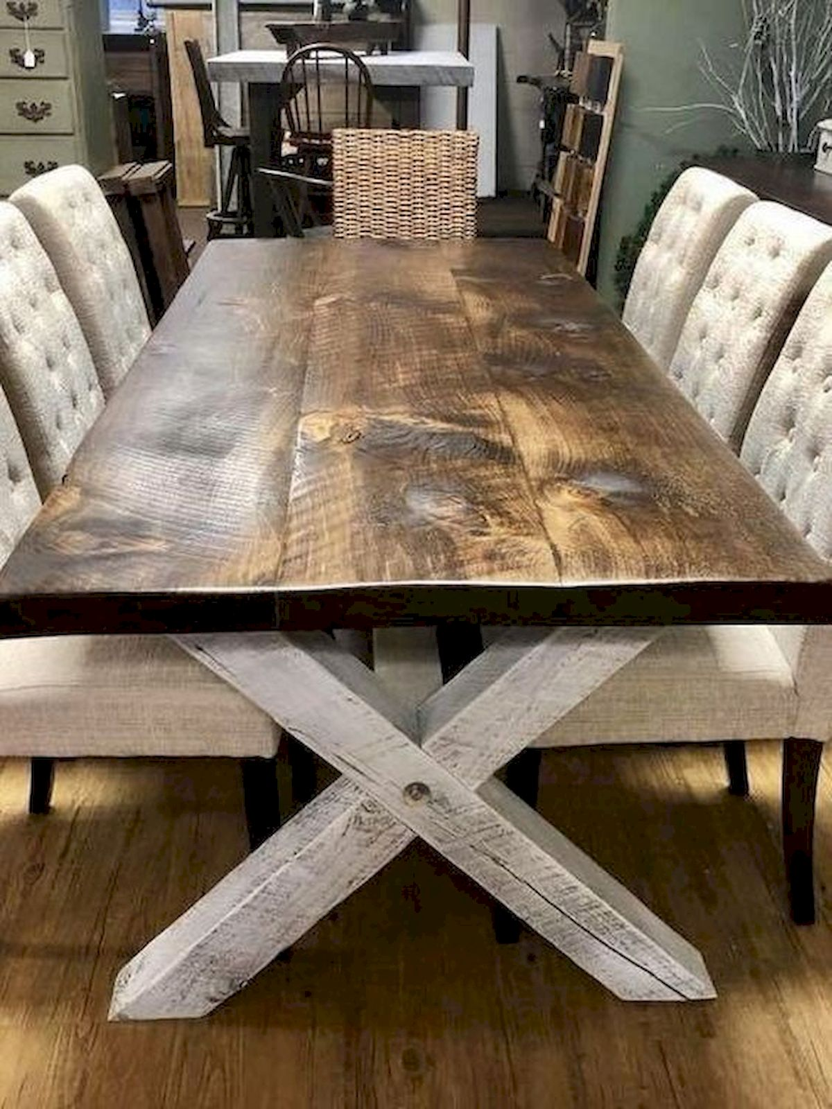 50 Nice DIY Furniture Projects for Dining Rooms Tables Design Ideas (42)
