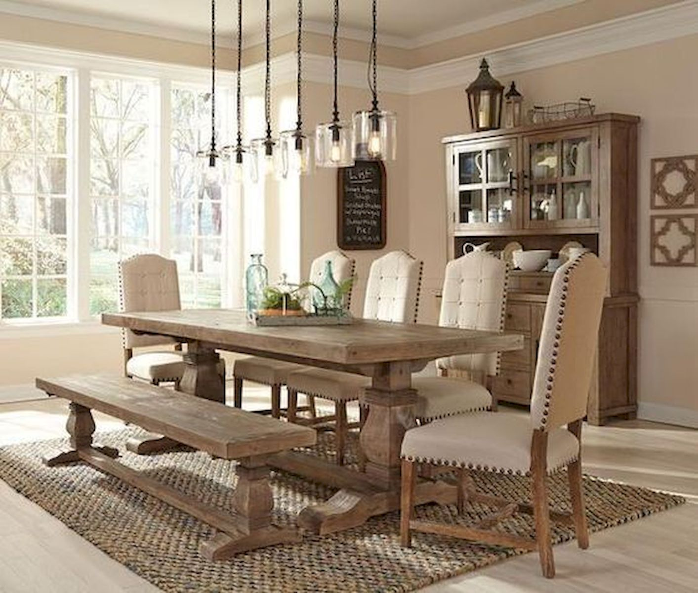 50 Nice DIY Furniture Projects for Dining Rooms Tables Design Ideas (48)