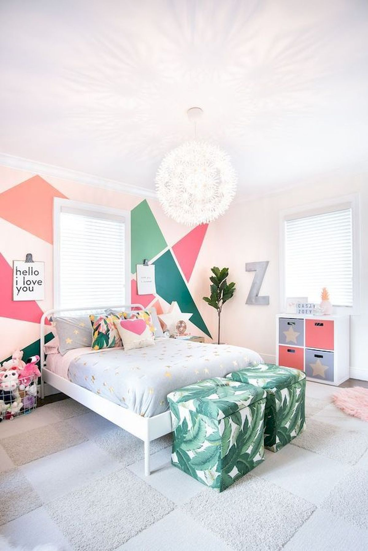 60 Cute DIY Bedroom Design and Decor Ideas for Kids (43)