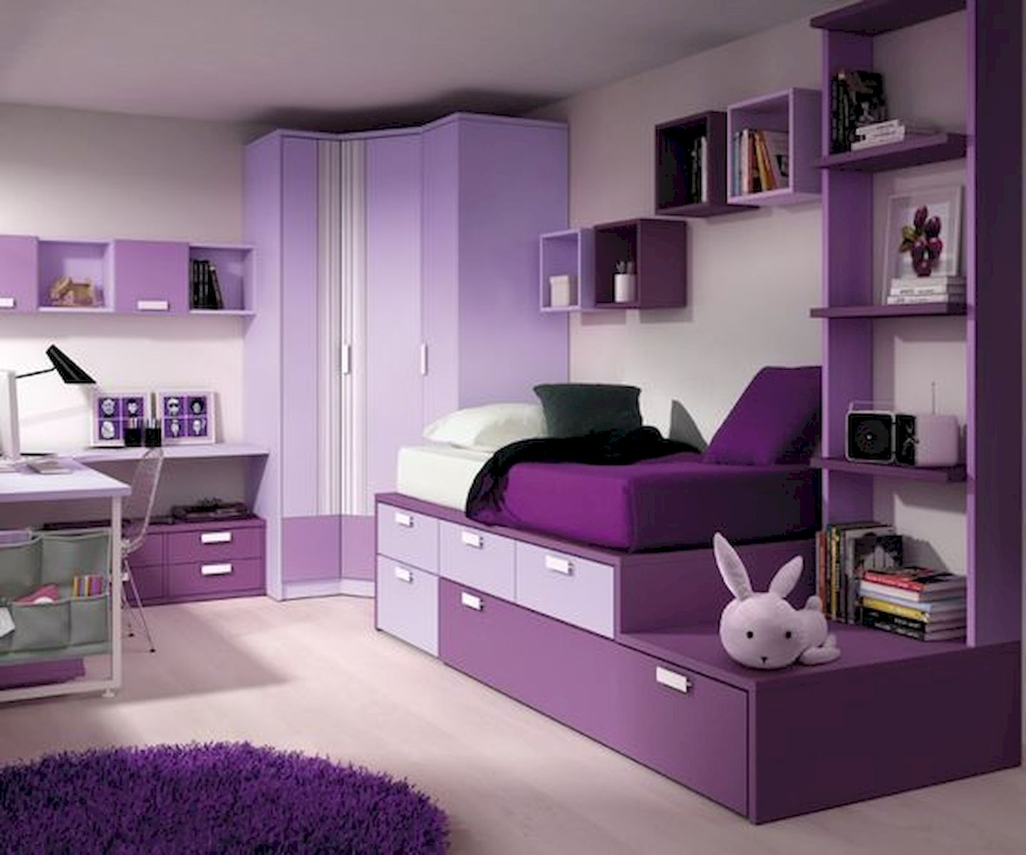 60 Cute DIY Bedroom Design and Decor Ideas for Kids (44)