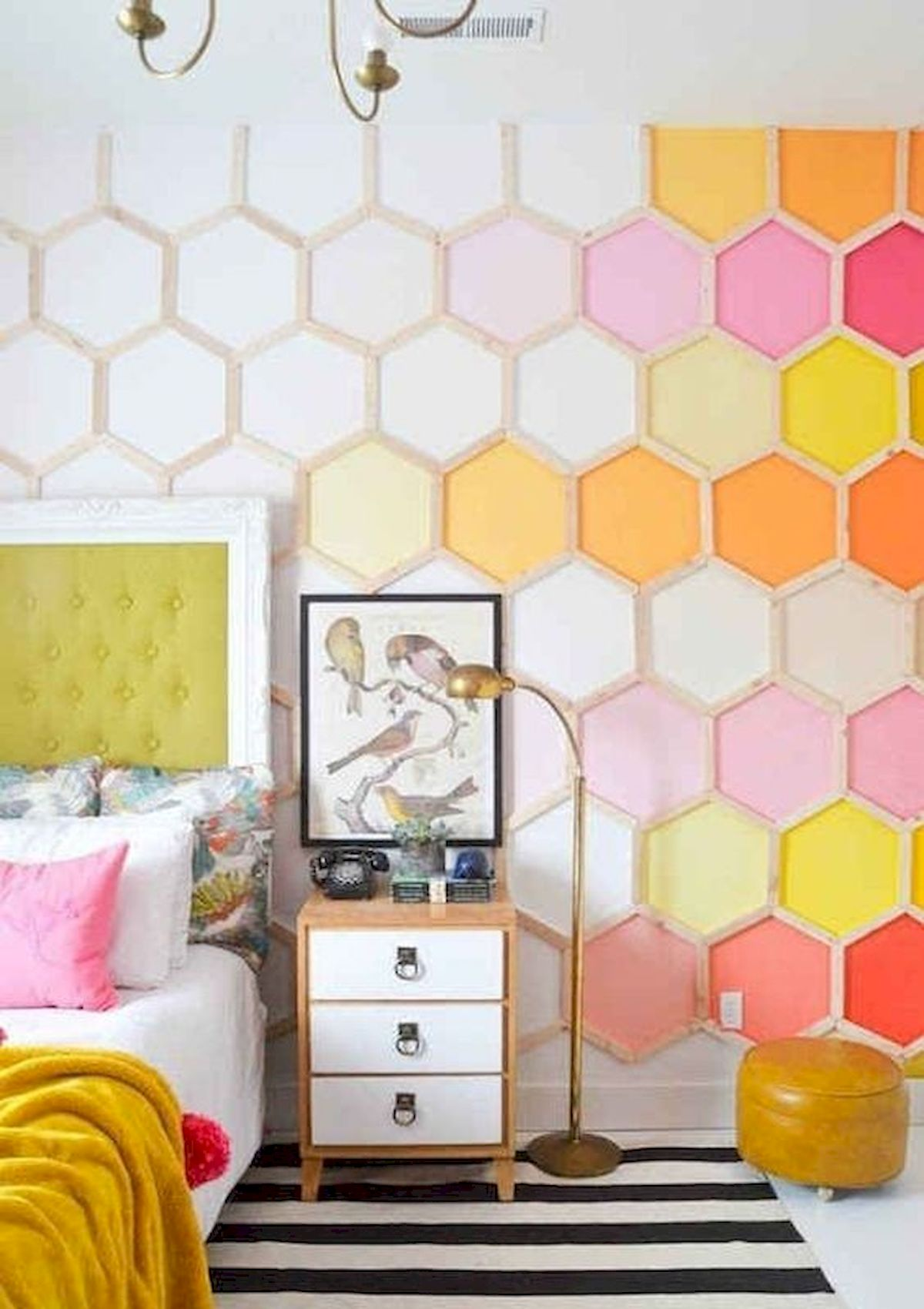 70 Beautiful DIY Colorful Bedroom Design Ideas and Remodel (70)